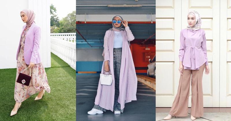 Inspirasi Ootd Hijab Bernuansa Ungu Yang Stylish Dan Modis Popmama Com