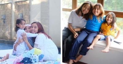 Selalu Kompak 10 Potret Kebersamaan Ketiga Anak Meisya Siregar