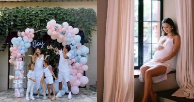 Intim Mesra, 7 Potret Gender Reveal Anak Ketiga Jennifer Bachdim