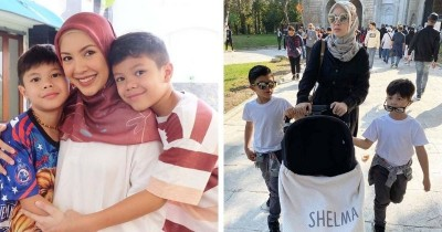 9 Potret Kekompakan Kakak-Beradik Shelby dan Madiba Anak Ratna Galih