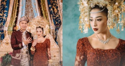 Mewah, Ini Detail Makna Baju Akad Nikah Nikita Willy-Indra Priawan