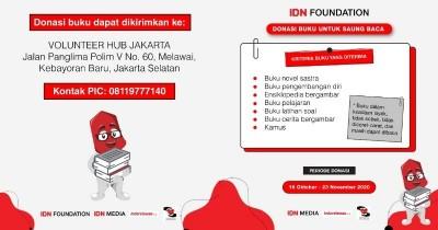 IDN Media Ajak Donasi 1000 Buku 'Saung Baca IDN Foundation'
