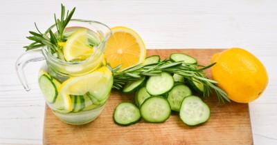 Segar, Ini Cara Membuat Infused Water dari Lemon, Timun Rosemary