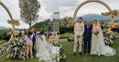 7 Potret Pernikahan Denny Sumargo dan Olivia Alan, Konsep Garden Party