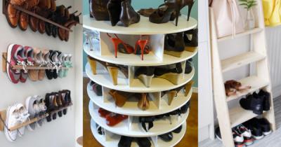 11 Inspirasi Kreatif Tempat Penyimpanan Sepatu Unik, Mirip Toko