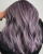 1. Warna rambut Lilac Ash Brown tampilan lebih fresh