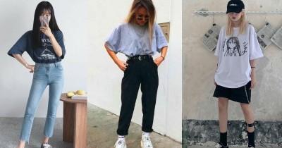 5 Tips Mix and Match T-Shirt Oversize Penampilan Stylish