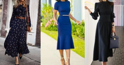 5 Inspirasi Midi Dress untuk Outfit Kantor, Cocok Buat Meeting Virtual