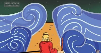 Kisah Nabi Musa Membelah Laut Merah Melawan Raja Firaun