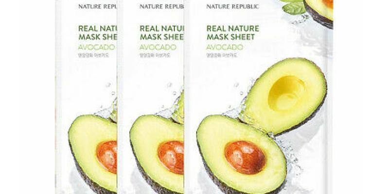 5. Real Nature Avocado Mask Sheet menutrisi kulit