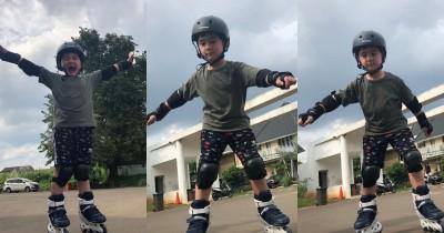 Serba Bisa, Intip 10 Potret Keseruan Rafathar Bermain Sepatu Roda