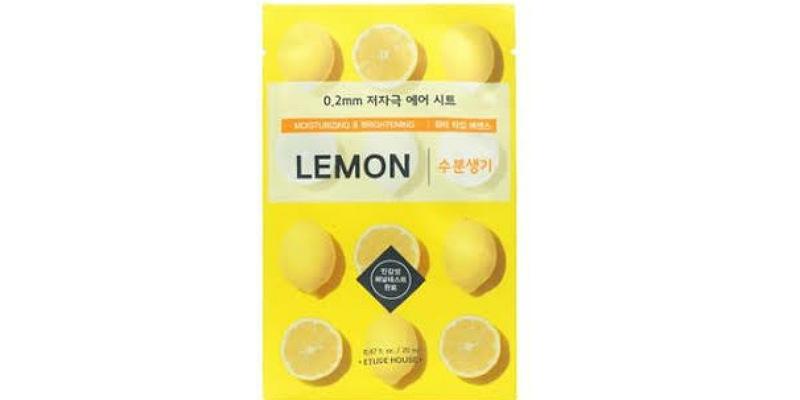 1. Etude House0.2 Therapy Air Mask Lemon mudah terserap