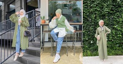 7 Ide Hijab Berwarna Hijau Pastel Cocok OOTD saat Ramadan