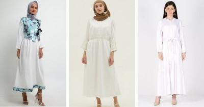 10 Rekomendasi Gamis Modern Warna Putih Remaja