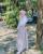 6. OOTD Vintage tartan dress kemeja