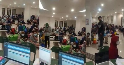 Tersebar Video Penuhnya Wisma Atlet, Banyak Pasien Duduk di Lantai
