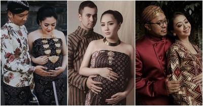 7 Potret Artis dengan Gaya Maternity Shoot Adat Jawa