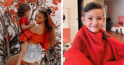 Murah Senyum, 7 Potret Mauka Anak Laki-Laki Influencer Yulia Baltschun
