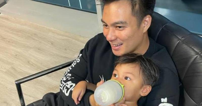 10. Kiano senang berada pelukan sang Papa
