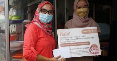 Rachel Ven Borong Dagangan UMKM Terdampak Pandemi