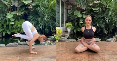 7 Foto Inul Daratista saat Yoga Beragam Pose