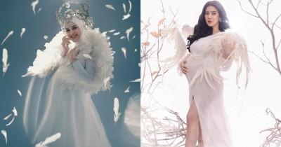6 Foto Maternity Artis yang Pakai Sayap Malaikat a la Negeri Dongeng