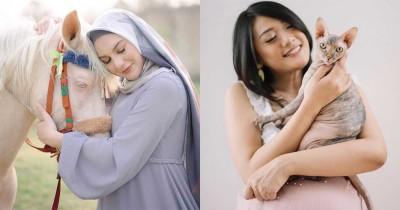 8 Foto Maternity Seleb Bareng Hewan, Berkonsep Anti Mainstream
