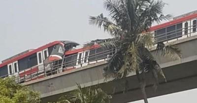 LRT Tabrakan 'Adu Banteng' di Cibubur, Benarkah?